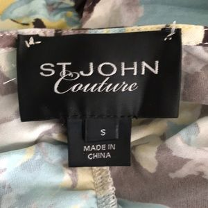 St. John Tops - 1 hr SALE - St John Couture Floral Blouse